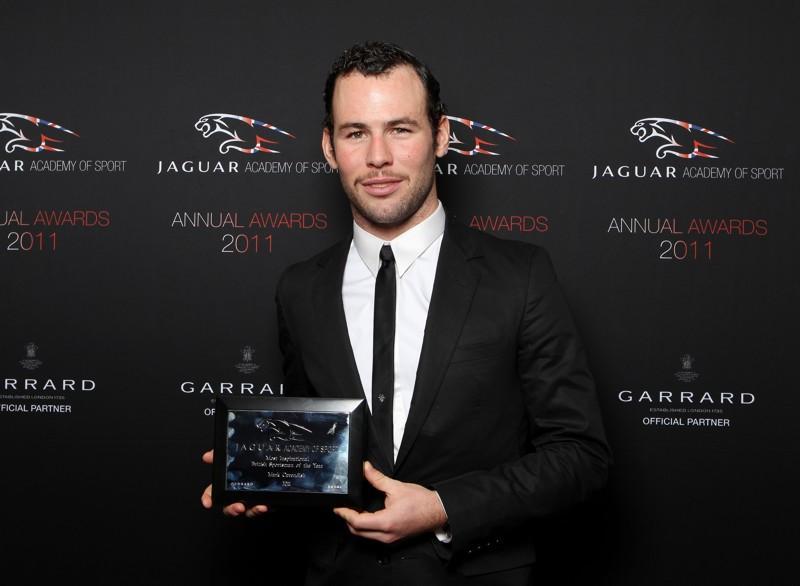 Mark Cavendish with Jaguar Academy of Sport Award