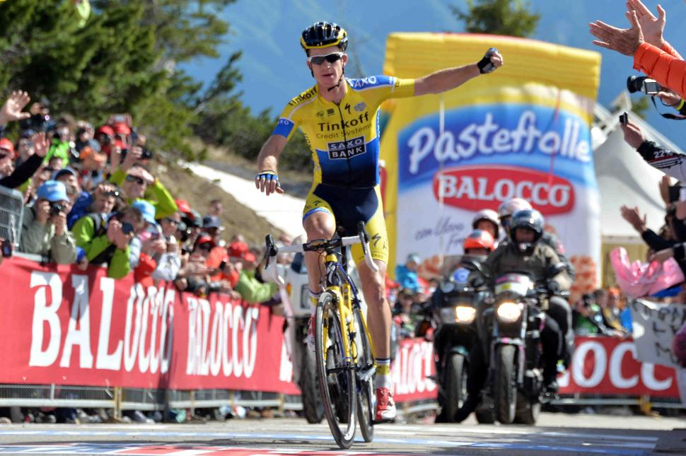 Michael Rogers wins 2014 Giro stage 20 on the Zoncolan - picture redit LaPresse