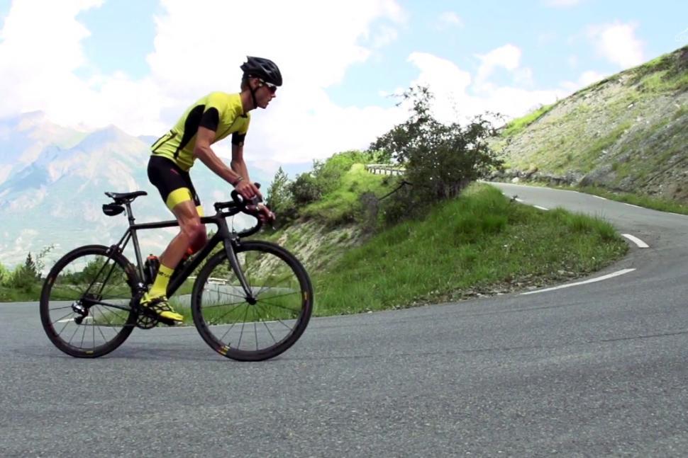 Mike Cotty climbs the Col de Bonette