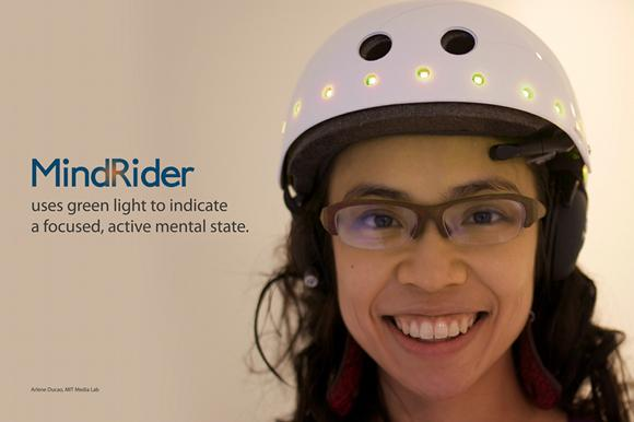 MindRider cycle helmet (Source Arlene Ducao, MIT)