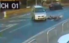 Motorist hits 12-year-old cyclist (Sussex Police YouTube still)