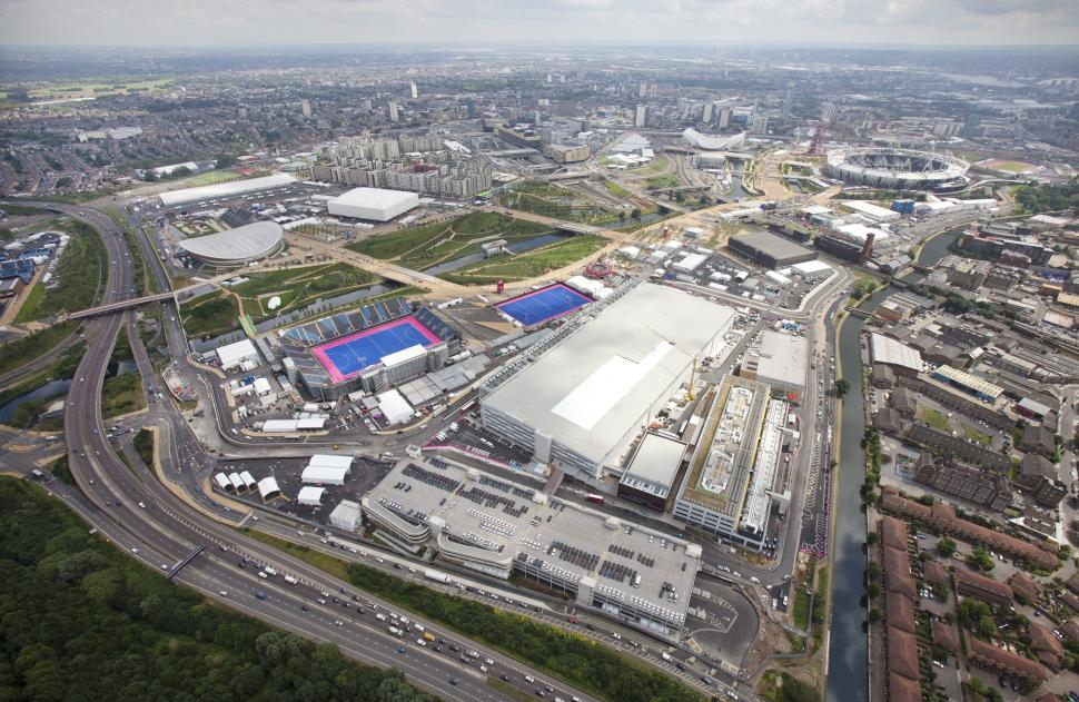Olympic Park aerial shot July 2012