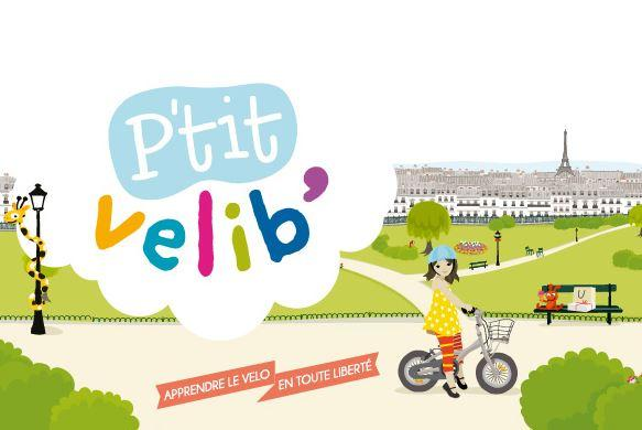 Paris P'tit Velib' - a cycle hire scheme for children aged 2-8 (courtesy blog.velib.paris.fr)
