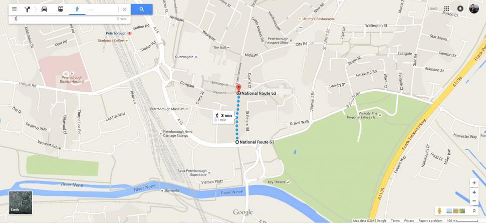 Peterborough Bridge Street map.png
