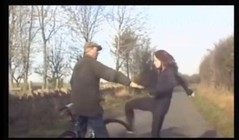 Gloucestershire road rage ninja woman kick