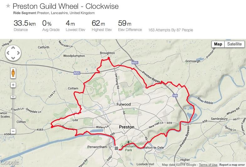 Guild Wheel Map Strava in spotlight again as Preston's Guild Wheel creator says  Guild Wheel Map