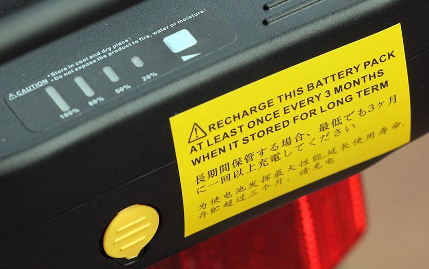 Raleigh Velo XC - battery indicator