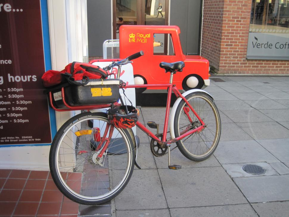 Royal Mail bike postman