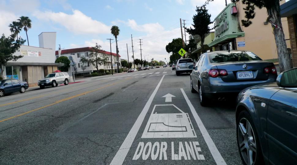 Santa Monica door lane - Gary Seven - Flickr Creative Commons & Woman who doored cyclist fined £133 | road.cc