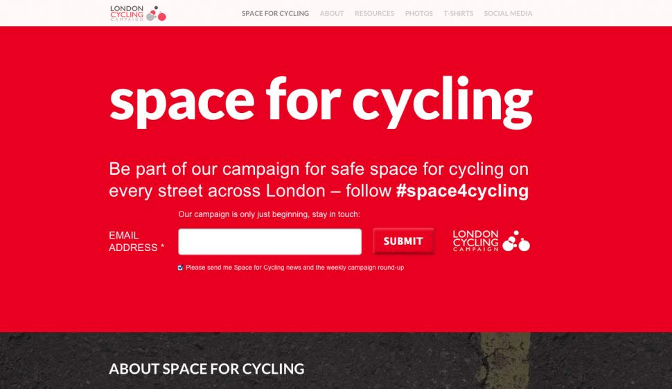 Space for Cycling website