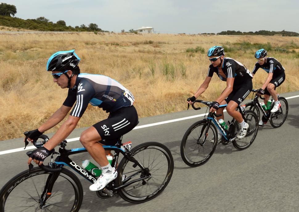 Sergio Henao on 2012 Vuelta Stage 2 (copyright Graham Watson:Unipublic)