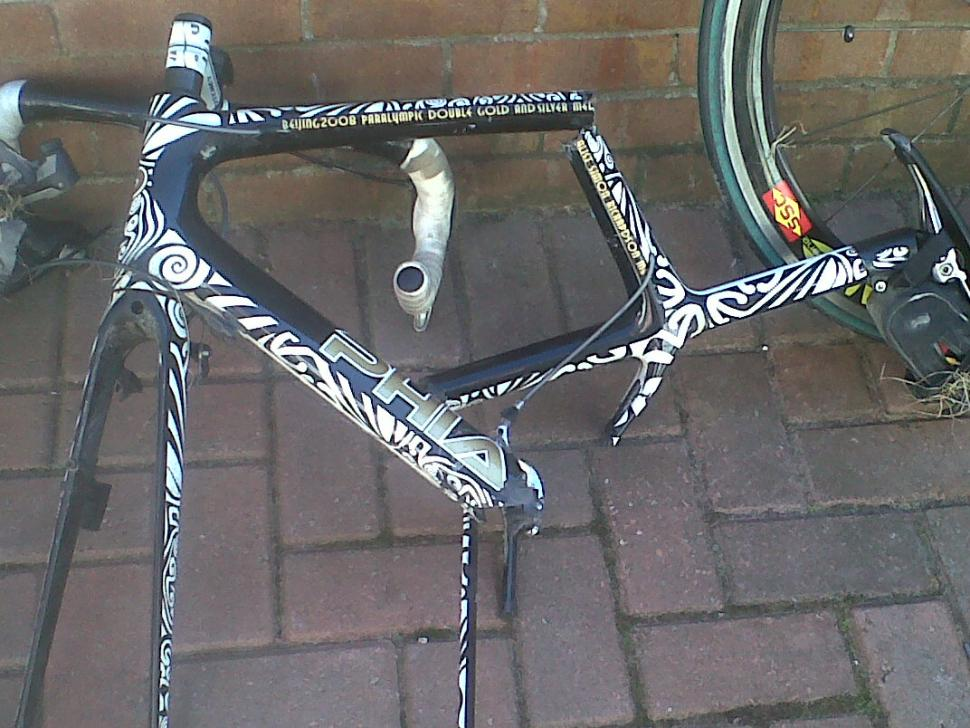 Simon Richardson's broken bike
