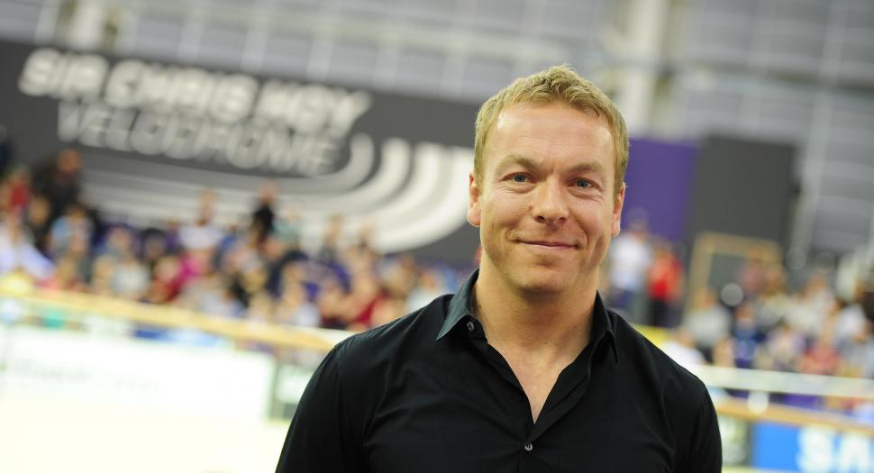Sir Chris Hoy at UCI Track World Cup Glasgow