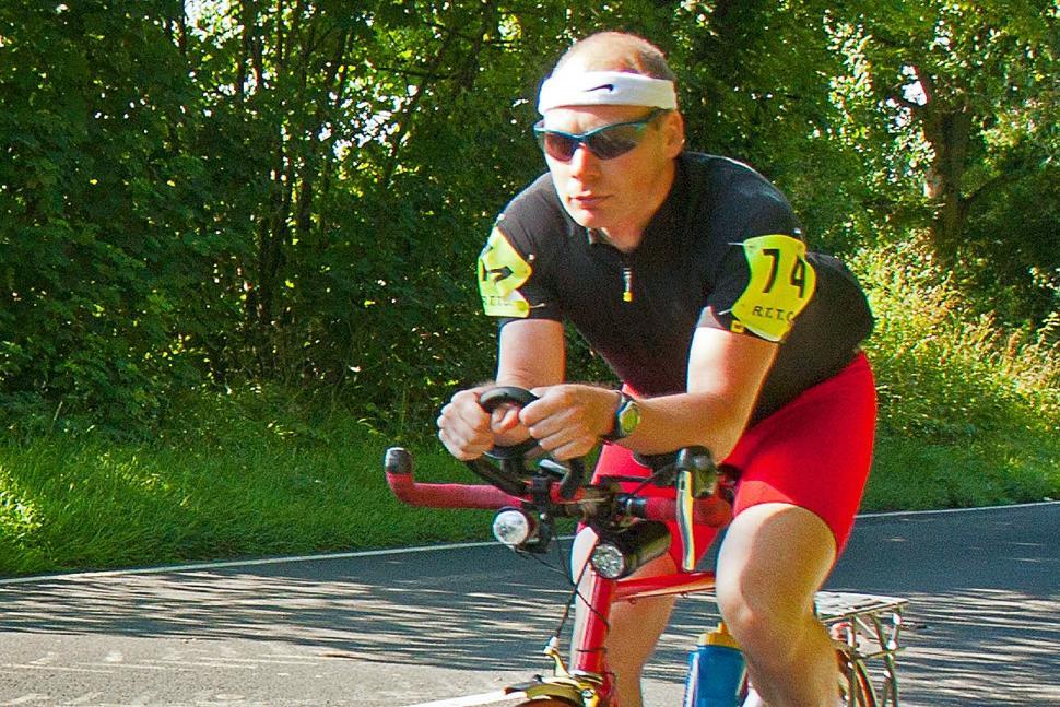 Steve Abraham riding
