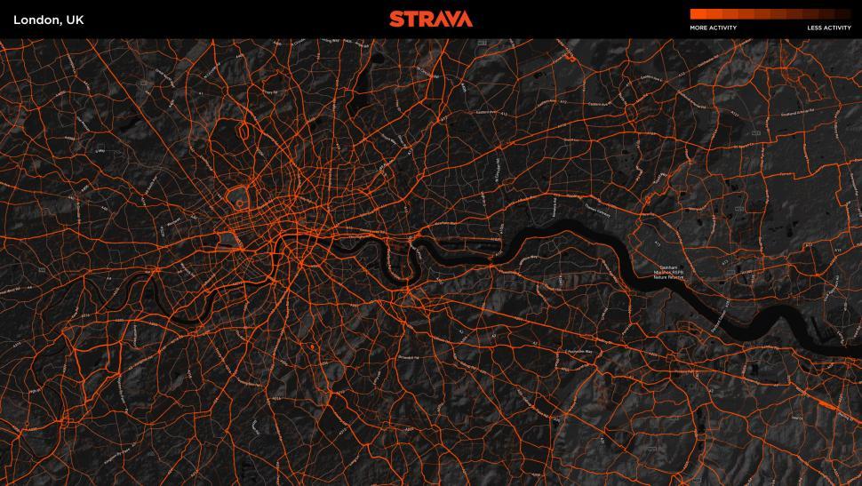 Strava Metro London UK