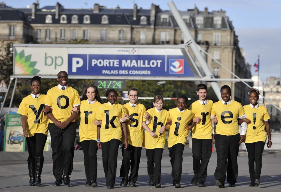 Students from Carr Manor Community School, Leeds (picture Simon Wilkinson:SWPix.com)