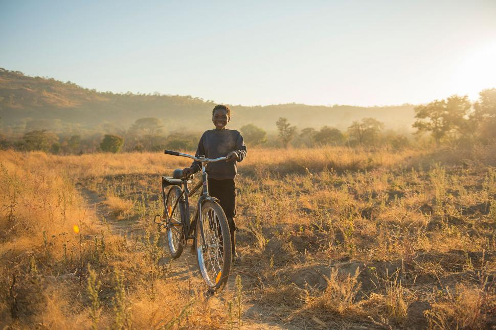 Tamara,12, with her World Bicycle Relief Buffalo Bike