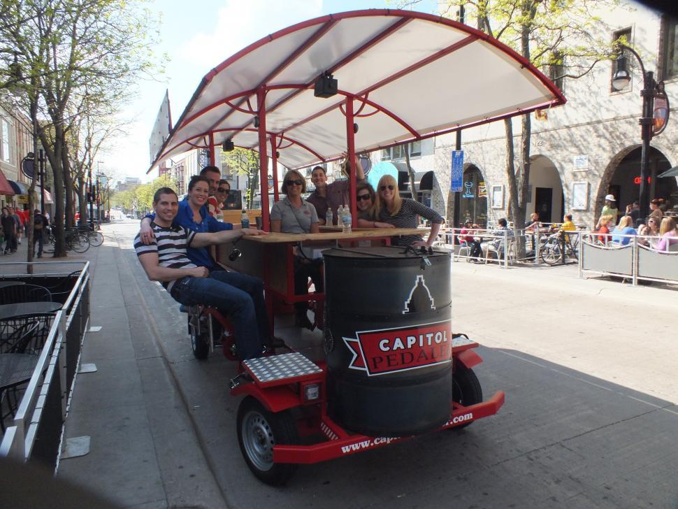 The Capitol Pedaler pedal pub (courtesy Capital Pedaler)