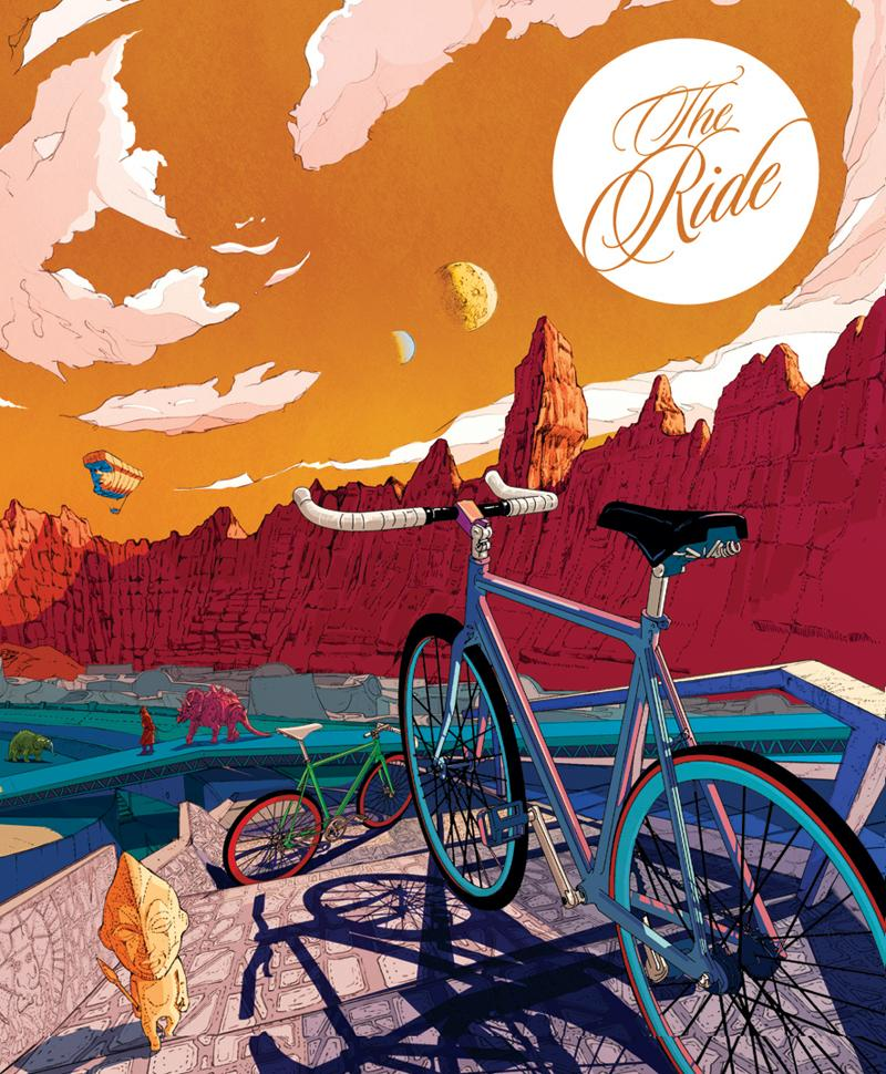 The Ride Journal Issue 6 cover illustration by Ilovedust