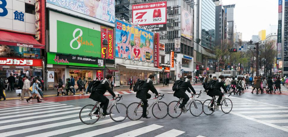 Tokyo cyclists (CC licensed image by neekoh.fi:Flickr)