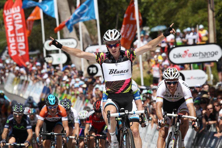 Tom Slagter wins Stage 3 of 2013 TDU (Picture - Santos Tour Down Under, Regallo)