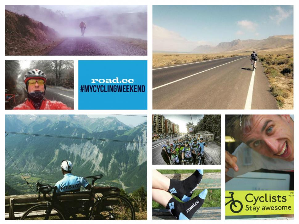 mycyclingweekend giveaway collage
