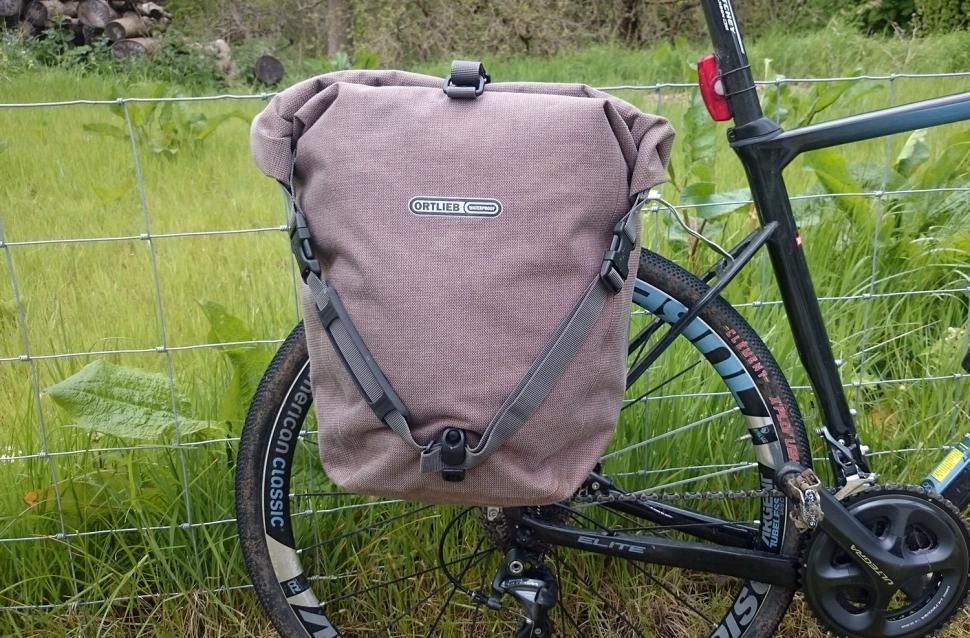 Ortlieb Single Back-Roller Urban Pannier - on bike 2
