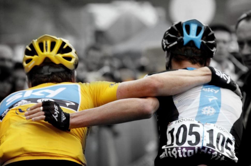 Wiggins and Froome (pic Bettini Photo, courtesy Pinarello)
