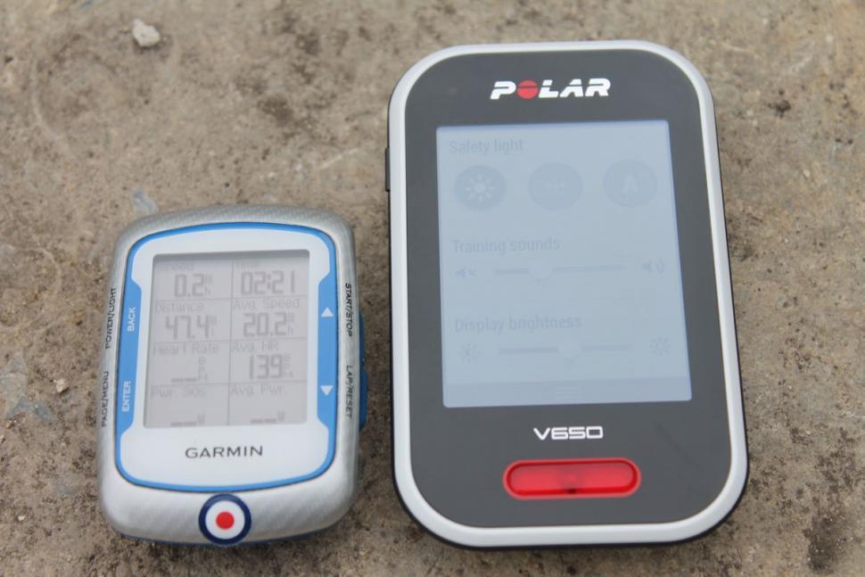 Polar V650 Garmin Edge 500 - 1