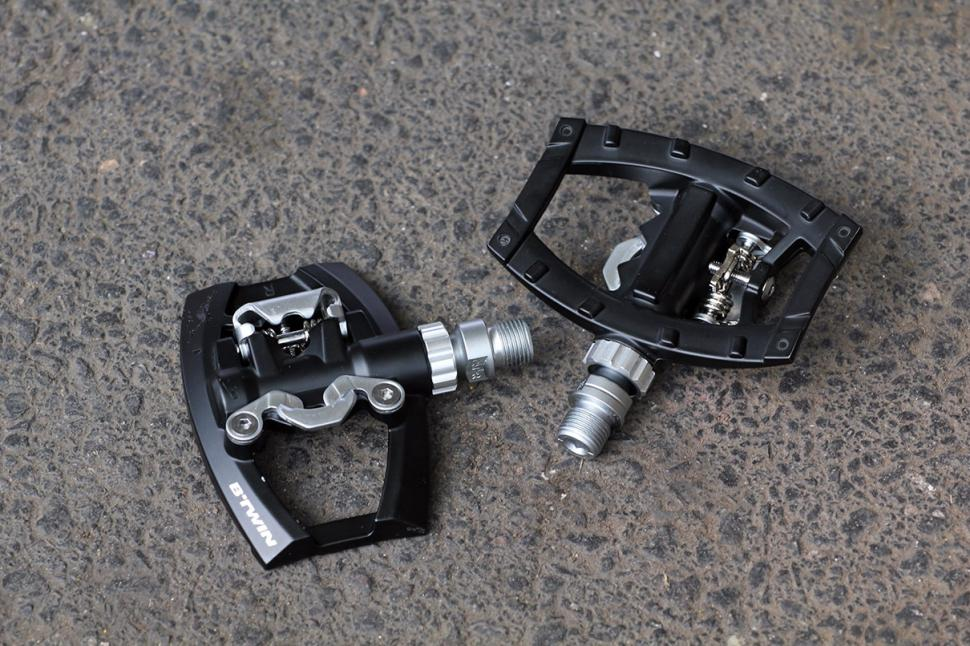 BTwin Road Half Clipless pedals