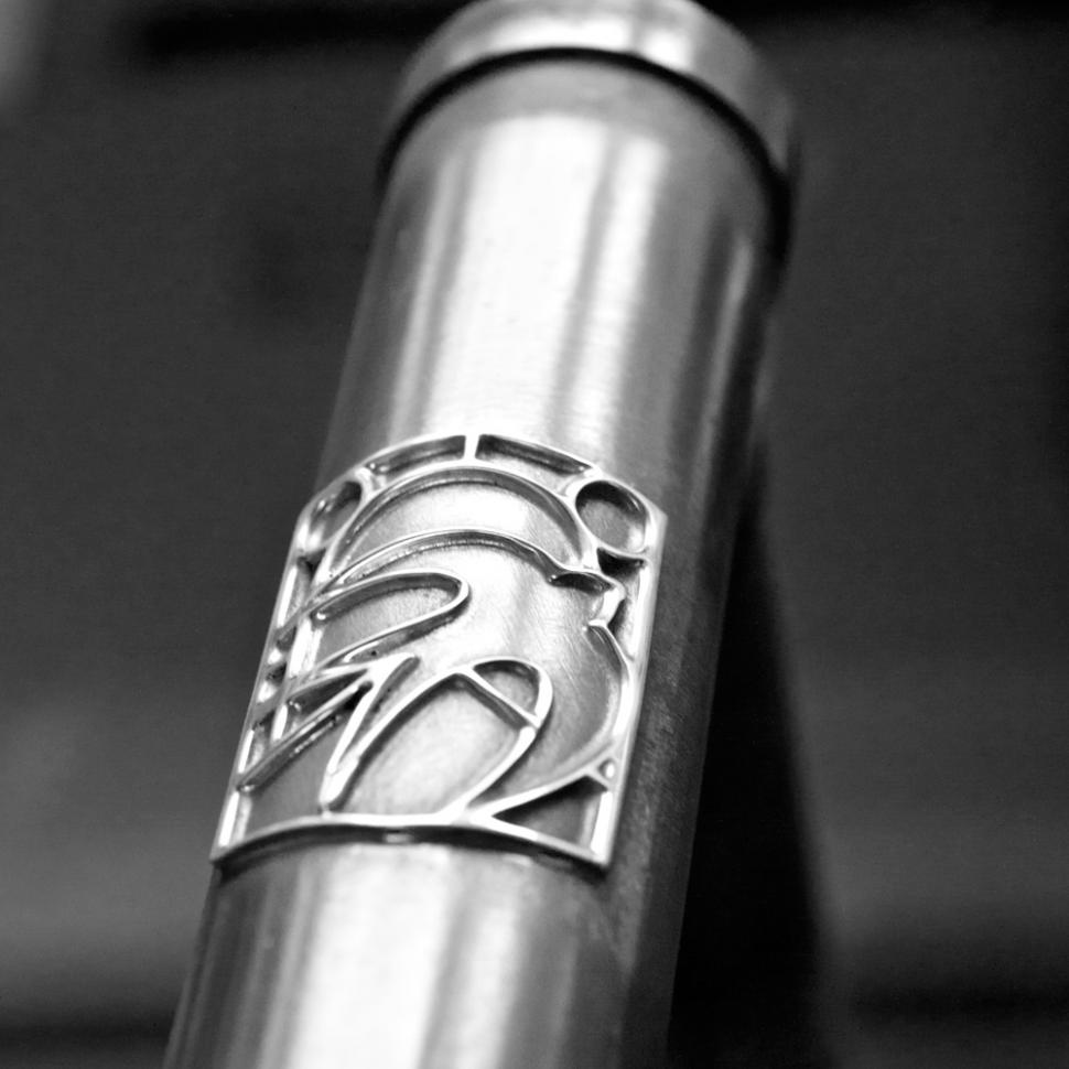 Swallow sterling silver headbadge