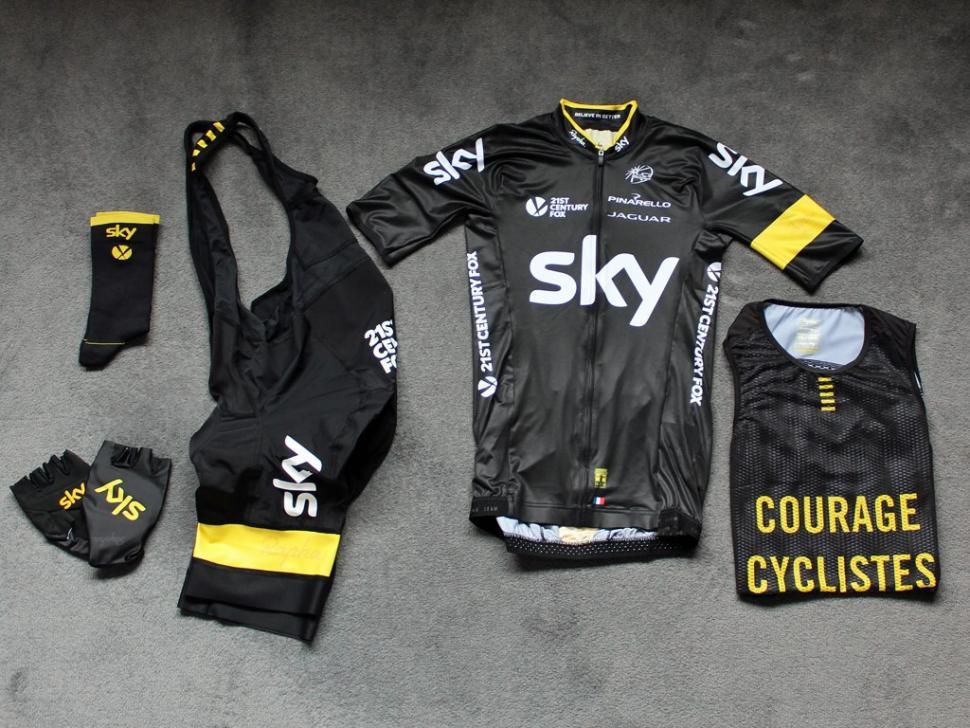 5db125719 Rapha unveils special Team Sky outfit for Tour de France final stage ...