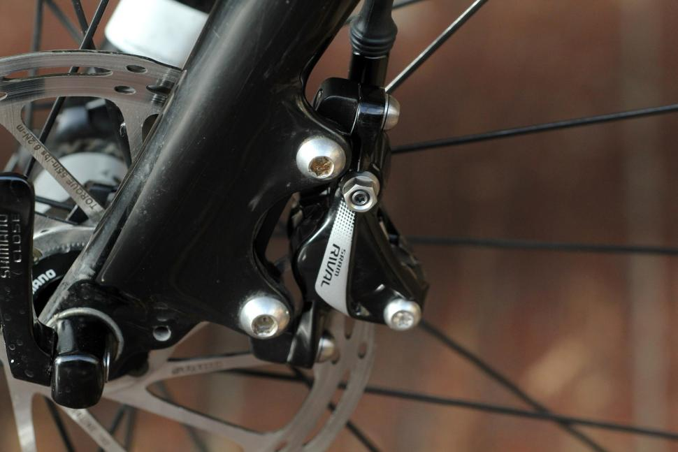 SRAM Rival 22 Hydro groupset - brake calliper on bike