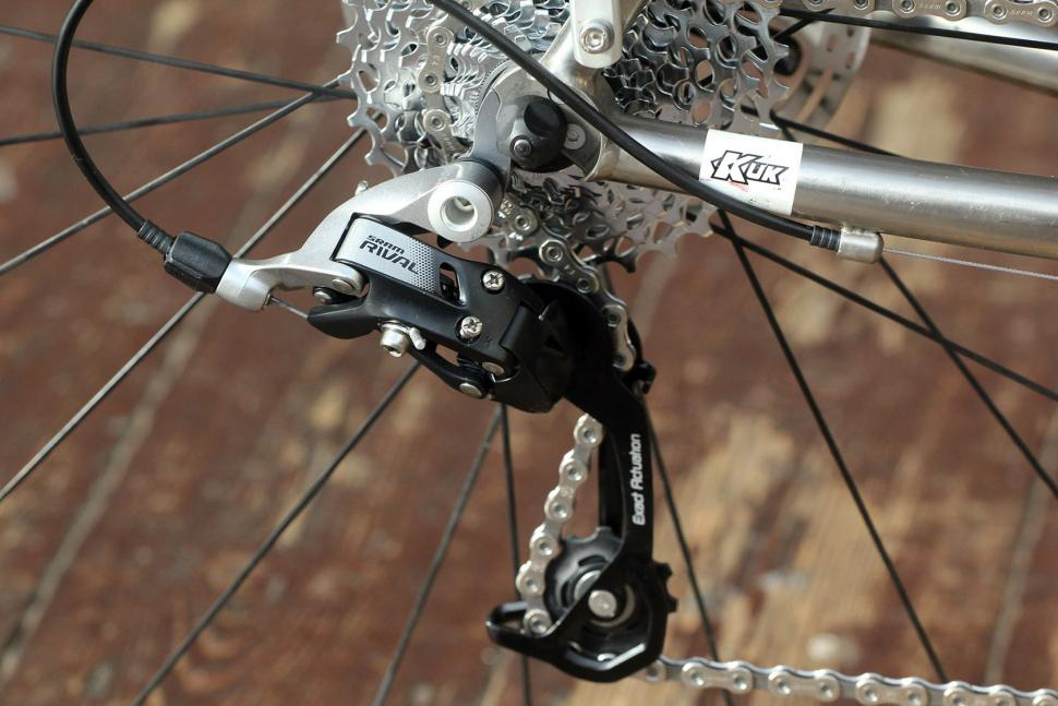 SRAM Rival 22 Hydro groupset - rear mech on bike