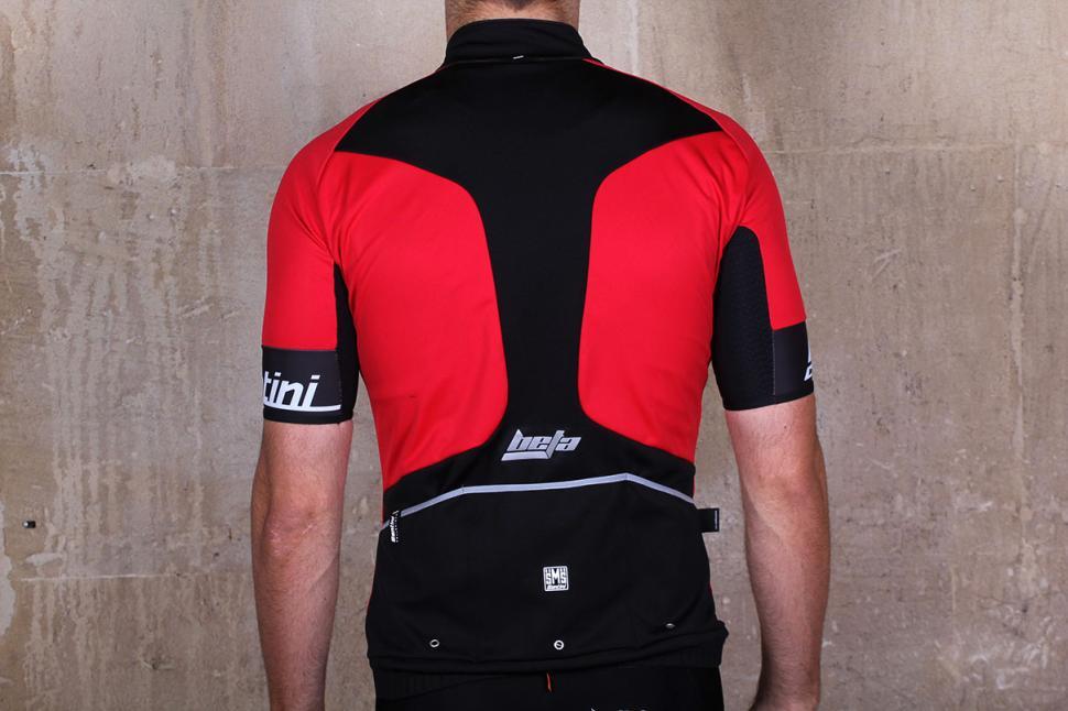 Santini Beta Light Windstopper Mens Cycling Jersey Black