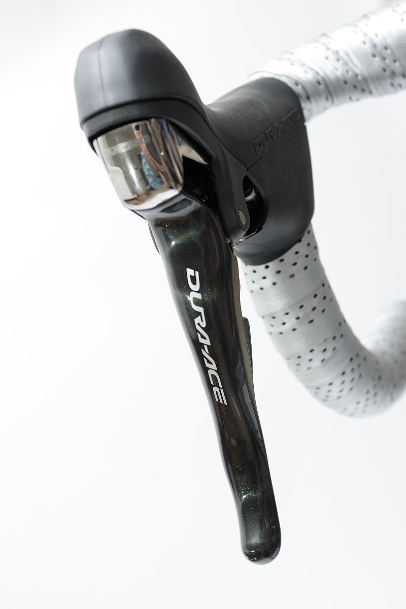 Shimano Dura Ace lever close-up