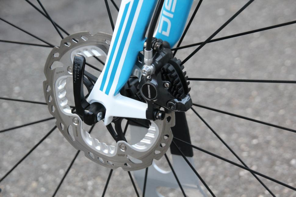 Shimano road discs - front disc and calliper
