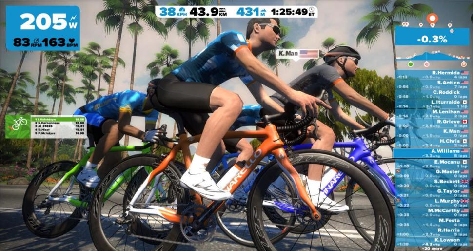Zwift screen  - 1