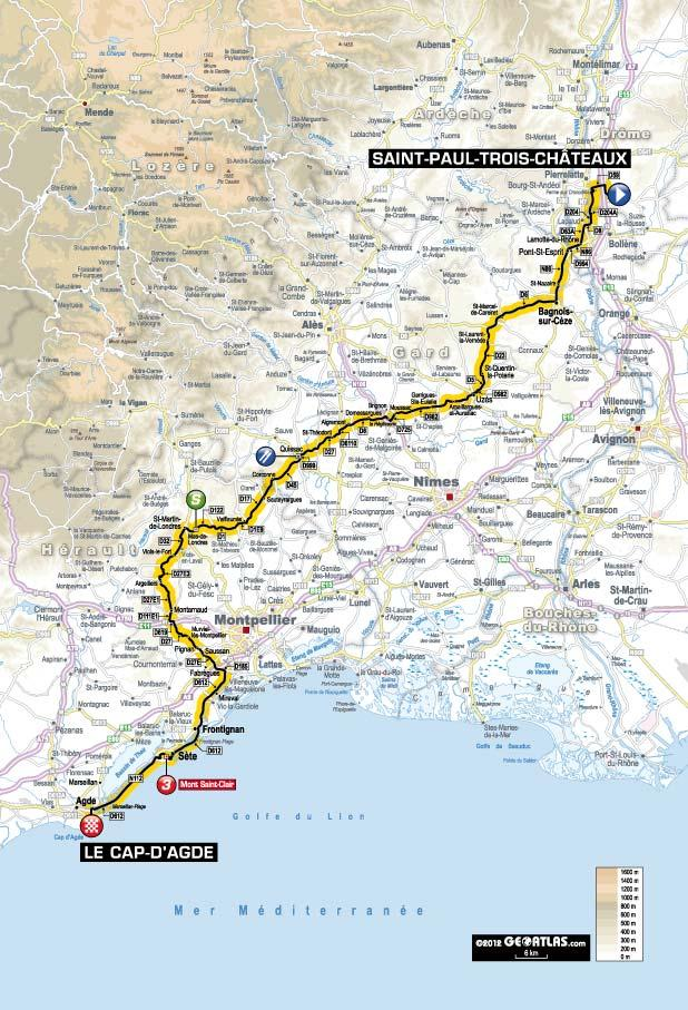 Tour de France 2012: Stage 13 Preview - Saint-Paul-Trois-Châteaux to ...