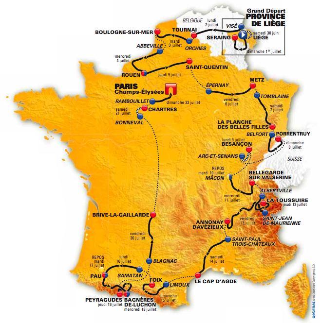 TDF 2012 parcours