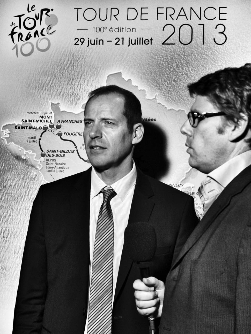 07 Christian Prudhomme at the TDF 2013 launch © Simon MacMichael