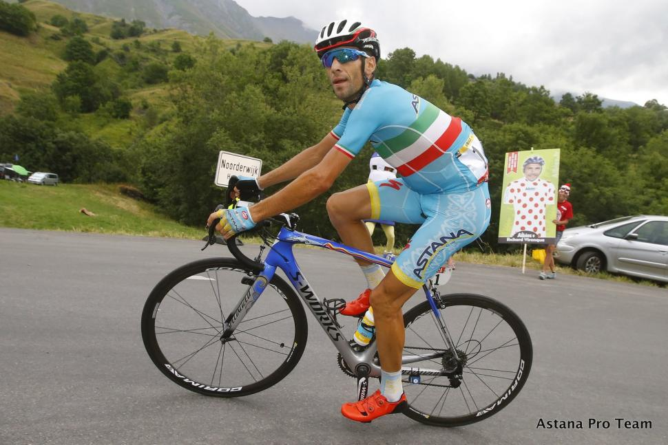 nibali riding - pic astana pro team
