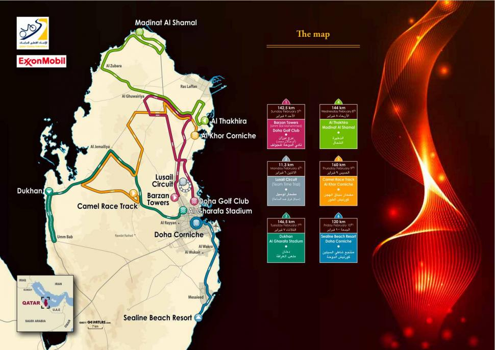 Tour of Qatar 2012 Parcours