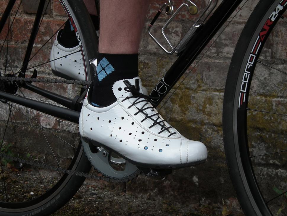 Vittoria 1976 Nylon Look Road Cycling Shoe Black L/'Eroica