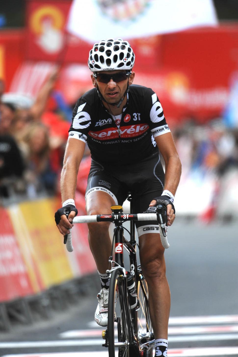 Xavier Tondo takes 3rd in Stage 11 of the 2010 Vuelta (copyright Unipublic:Graham Watson)