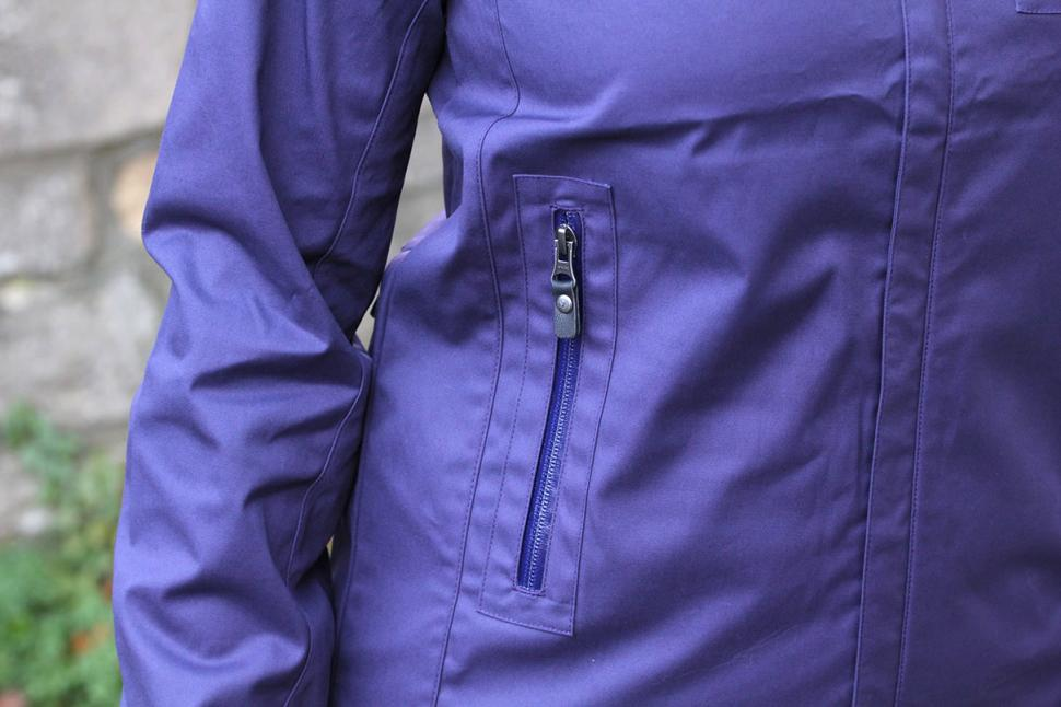 Vulpine Womens Harrington Rain Jacket - pocket