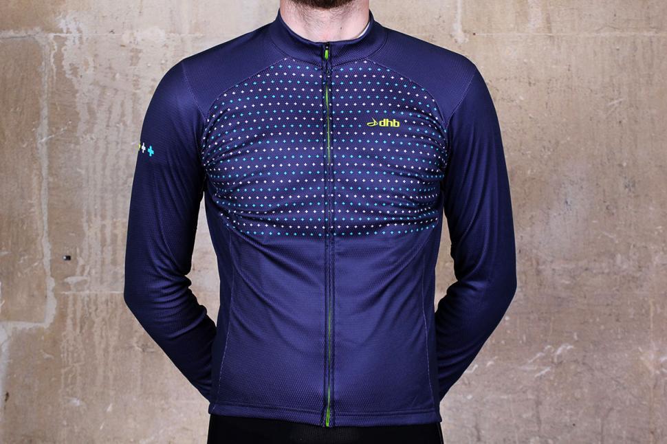 dhb Blok Micro Roubaix Long Sleeve Jersey Front