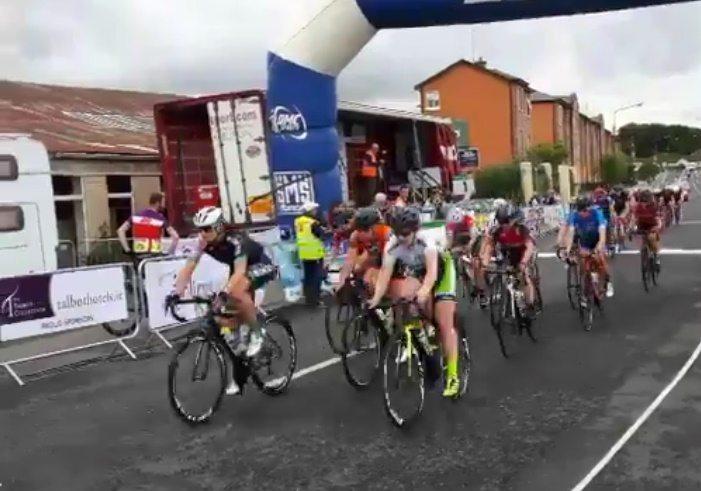 Irish women's national road race enters final lap (via Twitter.jpg