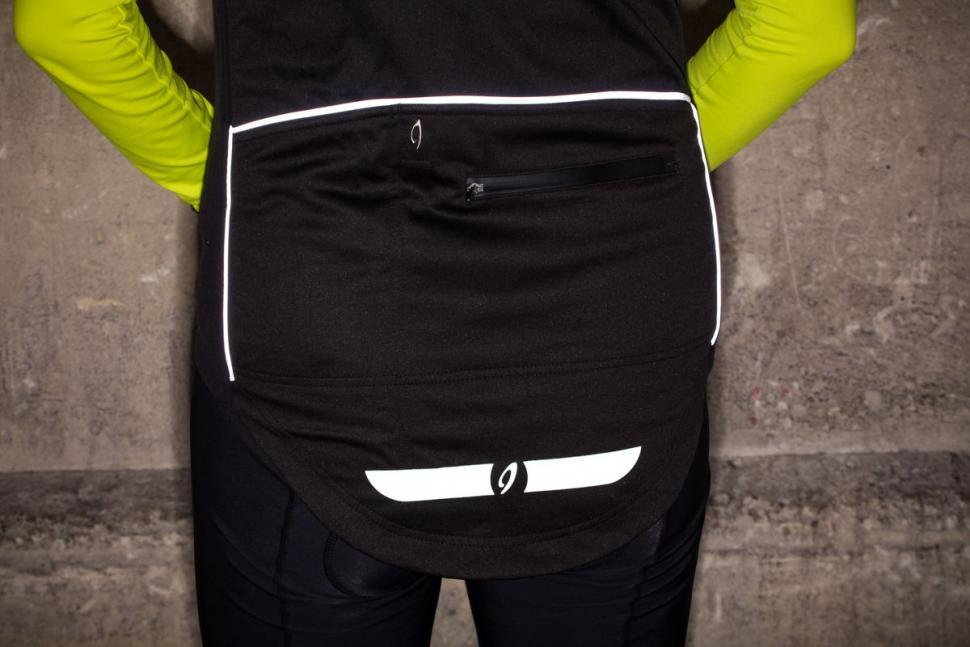 Isadore Womens Merino Membrane Soft Shell Vest - reflective back.jpg
