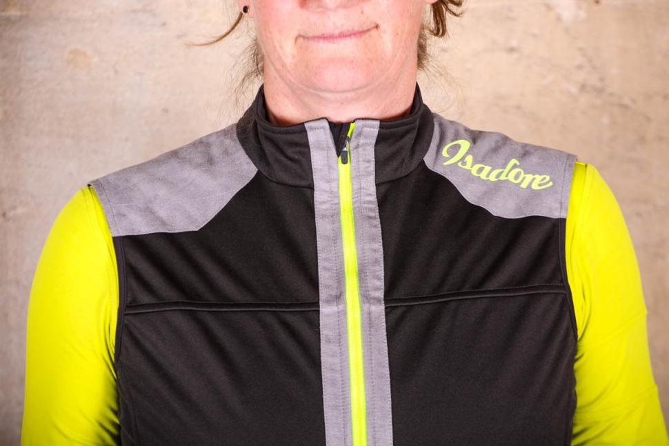 Isadore Womens Merino Membrane Soft Shell Vest - shoulders.jpg